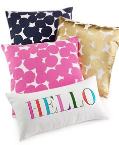 kate spade new york Decorative Pillow Collection - Decorative Pillows - Bed & Bath - Macy's