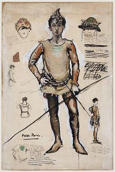 Peter Pan costume design 1904