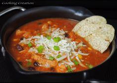 Slow Cooker Spicy Chicken Tortilla Stew