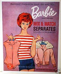 vintage Barbie Ad Marker