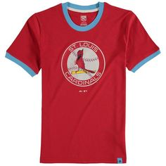 St. Louis Cardinals Majestic Youth Baseball Stripes Cooperstown Collection Ringer T-Shirt - Red - $24.99