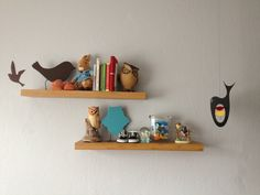 Baby boy room. Cute shelves.