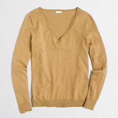 Cotton V-neck sweater : Pullover | J.Crew Factory Nice neutral sweater