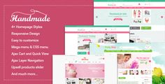 Download Nulled Handmade  Multipurpose Responsive Magento Theme For Free