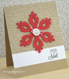 Joyeux Noel Card by Nichole Heady for Papertrey Ink (October 2013)