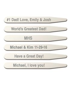 Another great find on #zulily! Silvertone Personalized Collar Stay - Set of Three by Personalized Planet #zulilyfinds