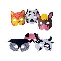 Foam Farm Animal Masks are perfect for your Farm theme party photo booth. Let the kids take them home after the party. $6.99 per dozen. http://www.partypalooza.com/Merchant2/merchant.mvc?Screen=PROD&Product_Code=FarmAnFoamMas