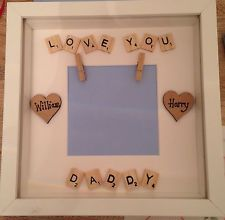 Personalised Scrabble Photo Frame Dad Grandad Fathers Day Birthday Handmade Gift