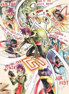 The Ninja's Memory by greenbudbowl on DeviantArt Disney Cartoon Movies, Cartoon Crossovers, Cartoon Games, Cartoon Shows, Disney Cartoons, Cartoon Art, Cartoon Characters, Ben 10, Randy Cunningham Ninja Total