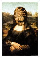 Mona Lisa with Facehugger ( da Vinci / Alien ) by *Rabittooth on deviantART