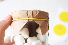 "Smore kit can be wrapped with a blue or pink ribbon topped with a note that reads "" take home YOUR bundle of joy!"""