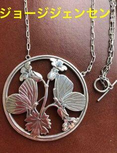Georg Jensen 925 Butterflies And Violets Rare | eBay