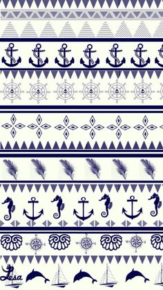 Cute anchor pattern wallpaper