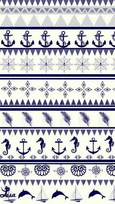 Cute anchor pattern wallpaper