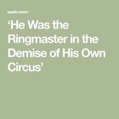 'He Was the Ringmaster in the Demise of His Own Circus' Ex President, Broken Promises, Interesting Information, Self Awareness, Politicians, Constitution, Human Rights, Current Events