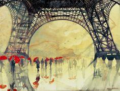 Winter in Paris Art Print @Nicole Hartwig