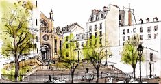 URBAN SKETCHERS FRANCE: Rencontrez les correspondants : Joël Guevara > Paris
