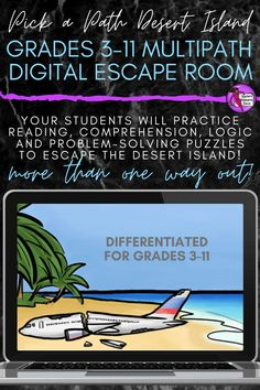 Your students will enjoy practicing their reading skills as they explore the intense storyline on their journey to escape the island. There are multiple differentiated paths and adventures for students to experience in their quest to get off the island, with an abundance of varied interactive activities and challenges to solve along the way! #escaperoom #digitalescaperoom Interactive Activities, Reading Activities, Reading Skills, Time Activities, School Resources, Teacher Resources, Teaching Ideas, Secondary Teacher, Secondary School