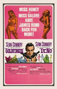 Movie poster for Goldfinger from 1964. 11 x 17 high quality reproduction on card stock.