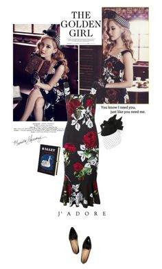 """My love is burning..."" by createjewels ❤ liked on Polyvore featuring Dolce&Gabbana, Brazen, xO Design, J.Crew, Olympia Le-Tan and vintage"