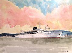 Cabo San Vicente 1956, Ybarra y Cía - El ilustrador de barcos