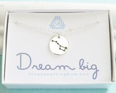 Big Dipper Constellation Big Dipper Necklace by ShopSomethingBlue