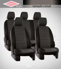 Черный с серым чехлы Автопилот на сиденья от интернет магазина Autopilot style. http://autopilot-style.ru/ для Шкода, Сюбару.