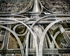 Edward Burtynsky: Los Angeles, CA, Intersection 105 & 110.