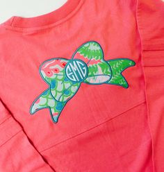 Monogrammed Long Sleeve Spirit Shirt with LILLY by MONOGRAMSINC