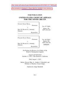 nijar-v-holder-9th-cir-8-112-on-asylum-jurisdiction by BigJoe5 via Slideshare