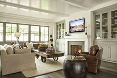 leather/linen/dove gray accents -- a coastal california farmhouse