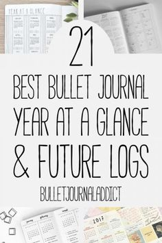 Bullet Journal Future Log Ideas - Year At A Glance Spreads for Bullet Journals - Bujo Inspiration for Future Logs - 21 Best Bullet Journal Year At A Glance and Future Logs