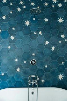 a83709205a BATHROOM    BATH    TILES    STARS    BLUE    NIGHT