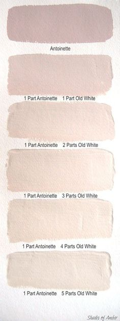 Delicate paint colours