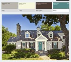 Exterior Home Renovation Ideas to Increase the Curb Appeal of Your Home - Ribbons & Stars Grey Exterior, House Paint Exterior, Exterior Paint Colors, Exterior House Colors, Paint Colors For Home, Siding Colors, Bungalow Exterior, Paint Colours, Wall Colors