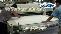 Transfer Process With Rotary Sublimation Heat Transfer Machine