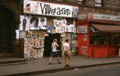 """New York City, Macdougal Street off West 3rd Street, 1969. """