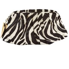 Pre-owned Giuseppe Zanotti Pony-Style Calfskin Clutch Bag (2.210 BRL) ❤ liked on Polyvore featuring bags, handbags, clutches, black, women bags clutch bags, zebra print purse, zipper handbags, zip pouch, zipper pouch and pre owned handbag