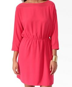 Essential Chiffon Panel Dress (Lipstick). Forever 21. $24.80