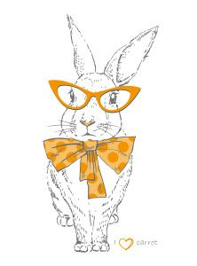 hipster easter bunny free printable wall art decor from grafficalmuse.com