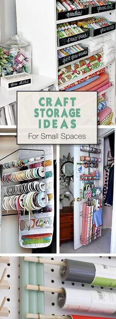 Craft Storage Ideas for Small Spaces | Pinning For Living