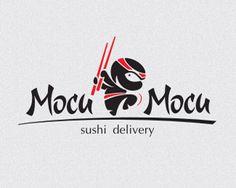 Mocu Mocu Sushi delivery #logo Sushi Logo, Sushi Ingredients, Ninja Logo, Catering Logo, Logo Tutorial, Sushi Night, Japan Logo, Sushi Art, Design Movements