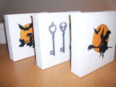 365 DAYS OF PINTEREST CREATIONS: day 330: diy canvases ... for halloween decor!