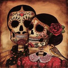 "Been.looking for a sugar skull design to represent my parents and I want to get the phrase ""though apart, love remains in their children."""