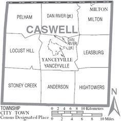 Joshua PIKE, 1775-1844 and Sally MALLORY, 1775 - 1840.    Map_of_Caswell_County_North_Carolina_With_Municipal_and_Township_Labels.PNG (300×301)