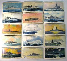 MODERN NAVAL CRAFT Battle Ships Boats - Cigarette Card Vintage Advertising Trade Cards John Player & Sons 1939  PL1 by ValueARTifacts on Etsy https://www.etsy.com/listing/233526068/modern-naval-craft-battle-ships-boats