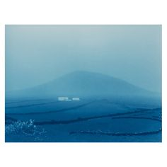 La Gran Calima - white small houses Cyanotype, Paper Dimensions, Canary Islands, White Photography, Tapestry, Ocean, Etsy, Black And White, Nature