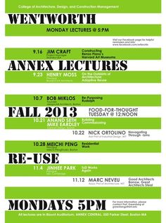 Get Lectured: Wentworth IT Fall '13 | Archinect