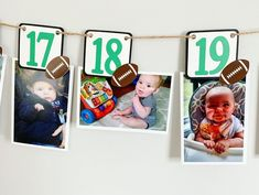Football birthday party decorations designed and crafted by Declan & Smith Party Décor. #footballdecorations #footballbirthdayparty Football First Birthday, Sports Birthday, First Birthday Photos, Baseball Party Decorations, First Birthday Party Decorations, Football Baby Shower, Baseball Banner, Fall Birthday Parties, Birthday Photo Banner