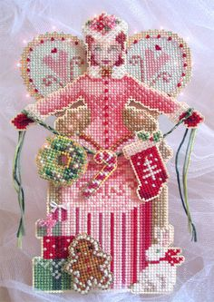 Brooks Books Cross Stitch | Brooke's Books Spirit of Holiday Giving Angel Ornament Cross Stitch ...